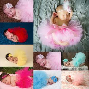 2pcs / set 0-24M Neonata appena nata del vestito dal tutu fascia Foto Puntelli Fotografia Outfits