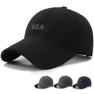 Mens Brand USA embroidery Baseball Caps Cotton Summer Cap For Women Bone Gorras Black Dad Hats Casquette Washed Snpback