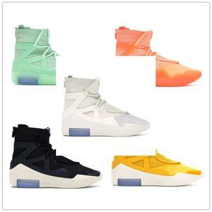 Encontrar Mens Semelhante 2019 Fear Of God 1 Luz osso preto Designer Sneakers Moda Nevoeiro Almofada Botas Sports Zoom calçados casuais 40 45