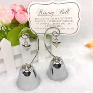 Charmante chrom glocke Platzkarte / Fotohalter mit baumelnden Herzen Charme Hochzeit Tischdekoration liefert