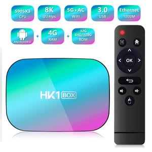 HK1 BOX Android 9.0 Smart Tv Box Amlogic S905X3 Set Top Box 4GB 32GB 5G Wifi 1000M BT4.0 8k Media Player