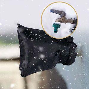 Aislamiento de tuberías de invierno del grifo de la manga de la cubierta exterior de protección anticongelante de agua Espita Calcetines caso protector Negro