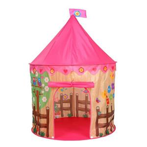 휴대용 어린이 텐트 왕자 방학 접이식 아기 놀이 텐트 어린이 성 캐슬 플레이 하우스 텐트 야외 게임 어린이 생일