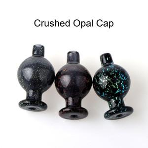 Tapa de carburador de burbuja de vidrio opal triturado para bordes biselados Cuarzo Banger Nails Vidrio Bongs de agua Tubos Plataformas Dab