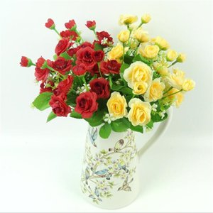 """Faux Hibiscus Rose (5 tiges / bouquet 12.6"""" Longueur de simulation Roses pour mariage Fleurs artificielles décoratifs pour la maison"""