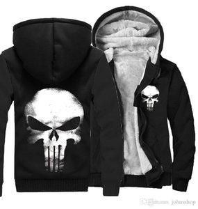 Skeleton Of THRONES House Of Stark Graphic Super Warm Thicken Fleece Zip Up Hoodie Men's Coat Black Free Shipping