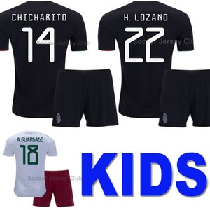 2020 Mexico Camisetas de fútbol para niños Gold Cup CHICHARITO LOZANO CHUCKY Kids kits soccer jersey football shirt Uniforme chicos Youth G DOS SANTOS Calidad tailandesa
