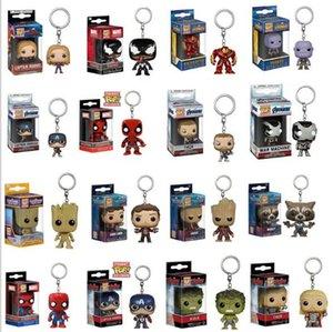 Personagens Humanos Cadeia PVC Marvel Avengers Keychain Funko Pop Key 20 Modelos Disponíveis escolha Box gratuito Packaging