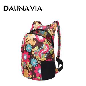 Kadınlar kız Seyahat spor çantası Yeni gelmesi 2019 için DAUNAVIA marka sırt çantası renkli hafif su geçirmez sırt çantası Taşınabilir Paketi