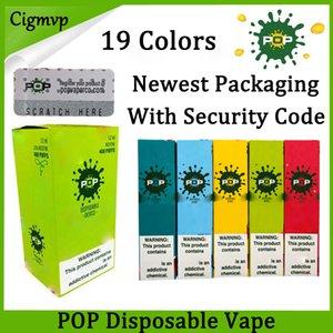 POP dispositivo desechable de la vaina Starter Kit 16 colores Cartucho de batería 280mAh 1,2 ml Vape Vacía pluma PK Eon Posh soplo Plus Hyde Bidi
