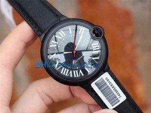 Herrenuhr WSBB0015 Blau Ballon 42mm Schwarz-Stahl-Gehäuse 8215 Mechanische Automatik Uhr Sapphire Nylonband montre de luxe Armbanduhr