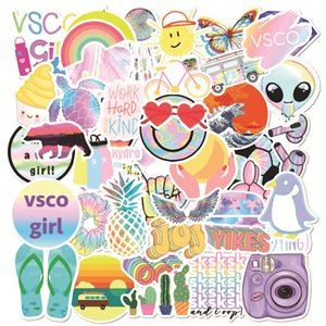 50pcs new vsco graffiti sticker waterproof trunk notebook scooter water cup motorcycle mobile phone sticker