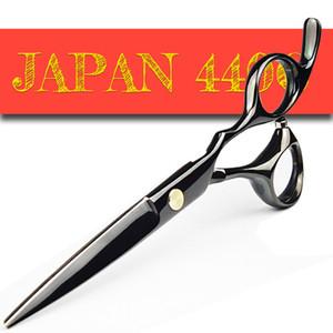 Japão 440C Barber Tesoura afiada profissionais de cabeleireiro Scissors 5.5 / 6.0 Corte Emagrecimento Hair Styling Ferramenta