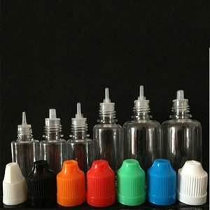 PET Bottles Plastic Empty E Liquid Bottle with Childproof Safety Cap Dropper Tip 5ml 10ml 15ml 20ml 30ml for Ego E Cig