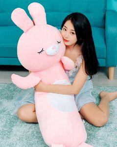20172942 토끼 인형 인형으로 수면 베개 소녀 침대 귀여운 인형 긴 베개 남자는 해체 세척이 가능