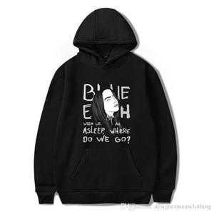 Billie Eilish женщины дизайнер толстовка осень с длинным рукавом с капюшоном Пара Кофты Повседневного Lettes Печатной Женская Одежда