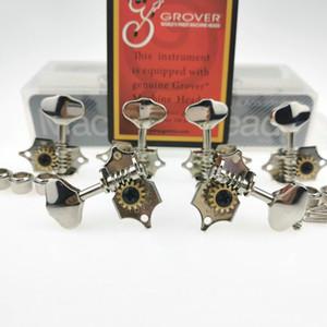 Máquina de guitarra novo Grover V97 Vintage Chefes Tuners níquel prata cravelhas (com embalagem)