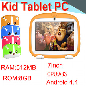 """HL Kids Band Tablet PC 7"""" Quad Core Children Tablet Android4.4 512MB 8GB Allwinner A33 Google Player WIFI Speaker Protective Cover XPB"""