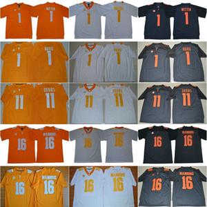 NCAA Tennessee Volunteers 16 Peyton Manning Jerseys Men Jason Witten 1 Jalen Hurd 11 Joshua Dobbs College SEC Men Stitched Orange Gray White