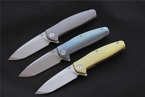YX750 ball bearing folding knife vg-10 blade TC4 titanium handle camping hunting outdoor activity pocket knife EDC tools beautiful men