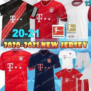 20 21 Bayern Monaco 10 COUTINHO calcio maglie 9 LEWANDOWSKI HERNANDEZ 25 MULLER DAVIES 2020 camicia 120 ° anniversario MUNCHEN uomini di calcio