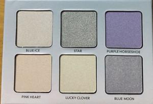 Trasporto libero epacket Nuovo metalliche verniciate con polveri Evidenziatori 6 colori in polvere tavolozza! Happy_xinxin