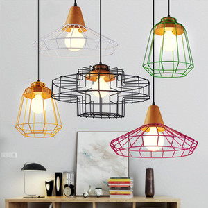 6 PCS Fanlive Fio de Ferro Do Vintage Lâmpada Gaiola Abajures Pendurado Lâmpada Titular Guard Shade Industrial Home Light Decoration