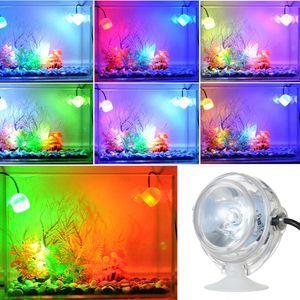 1W ملون حوض السمك LED إضاءة للماء غاطسة أدى ضوء لحوض السمك تحت الماء الأسماك الالكترونية دبابات مصباح الاتحاد الأوروبي