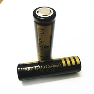 UltreFire плоской головкой батареи 18650 4000mAh 3.7V перезаряжаемые е литиевая батарея Бесплатная доставка