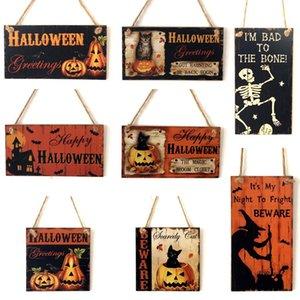 Хэллоуин украшения Для дома Творческий моды Happy Halloween Деревянные двери Подвеска украшения Висячие украшения партии Свободный DHL DHE174