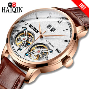 Haiqin Hommes Montres Hommes Montres Top Marque De Luxe Mécanique D'affaires Montre-Bracelet Hommes Reloj Mecanico De Hombres Tourbillon 2019 J190706