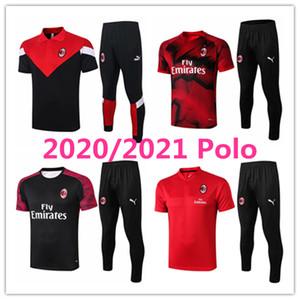 2020 2021 AC milan mens polo shirt Borini short sleeve Suso tracksuits football jersey Piatek 20 21 training tshirt Ibrahimovic Tee kits