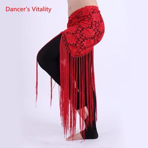 Одежда ручной работы для танцев живота Женская одежда для танцев цветов Длинная бахрома Трикотажное кольцо ручной работы Belly Dance Hip