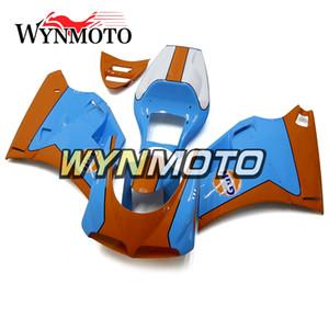 Kit completo de carenado para Ducati 996/748/916/998 Monoposto Año 1996 1997 1998 1999 1999 2000 2002 ABS Plástico Carrocería Azul Naranja Cubiertas Nuevo