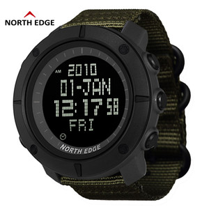 North Edge World Time Uomo Sport Army Orologi Impermeabile 50m Digital Watch Running Orologio da polso Diving Orologio da polso Montre Homme C19041001
