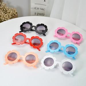 2019 Nuevas Niñas Gafas de Sol Niños Flor Redonda Gafas de Sol Gafas Verano Niño Niños Gafas de Sol Chicos Chicas Estudiante Gafas de Sol