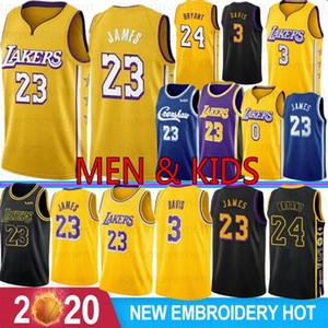 NCAA Crenshaw 23 LeBron James 3 Anthony Davis Los Angeles Lakers Camisetas de baloncesto 24 Kobe Bryant 8 Bryant 32 Johnson 0 Kyle Kuzma Hombres Jóvenes