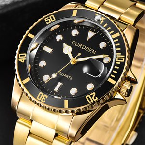 Rolex watch Moda Homens Grande Relógio de Ouro de aço inoxidável de Prata de Alta Qualidade Masculino relógios de Quartzo Homem relógio de Pulso de negócios classil relógio