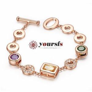 Yoursfs Unique Design Geometric Shapes Bracelet Use Crystal Fashion European Charm Lovely Bracelet For Women Fashion Jewelry Sunmer Clothing