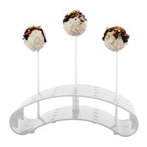 20 trous Lollipop étagère en forme de U Porte d'affichage coloré courbé tablette chocolat Bar gâteau Présentoir