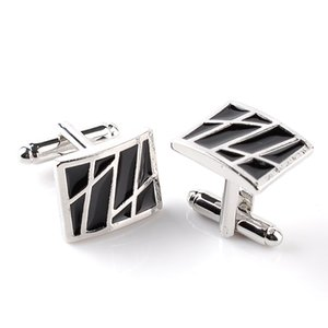 Black Rectangle Cufflink Cuff Links sleeve button for women men shirts dress suits Cufflinks wedding bridegroom jewelry gift