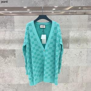 Vente chaude Automne Femmes en tricot doux Hauts Cardigan bleu tissu avec fil d'argent pull 040505