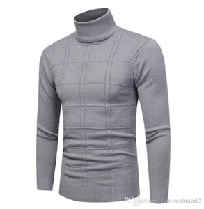 Long Sleeve Solid Color Homme Fashion Clothing Mens Autumn Desinger Turtle Neck Sweaters