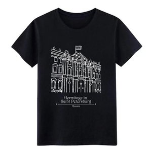 hermitage in st petersburg f t shirt men Design 100% cotton O Neck Outfit Famous New Fashion Spring Autumn Outfit shirt