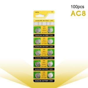100pcs التي AG8 LR1120 391 381 1.5V القلوية الزنك / MnO2 زر خلية البطارية كوين المتاح ووتش اللعب بطاريات