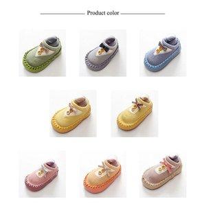 New Spring Baby-Kleinkind-Schuhe Schuhe Bow Newborn Socken rutschfeste weiche untere Stufe Fußboden-Socken