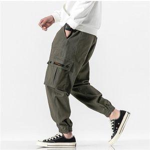 Calças de Luxo Moda Plus Size cordão tornozelo Banded calças dos homens Casual Jogger Calças Mens Designer de Carga