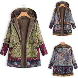 Chuwanglin новый печати зимняя куртка женщин большой размер манто femme hiver теплые куртки jassen dames с капюшоном плюшевые топ A1021