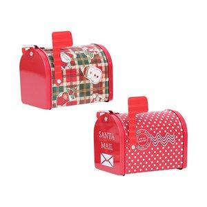 Boîte aux lettres de Noël Bonbonnière Noël Enfants bonbons cadeau Tin Box boîte cas Père Noël Bonhomme de neige imprimé bonbons Conteneur