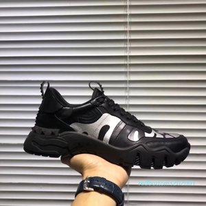 Zapatos de calidad superior Moda camuflaje zapatillas de deporte de los hombres Entrenadores de diseño planos del cuero de lujo de zapatos casuales de tenis vestido de la zapatilla de deporte AF26